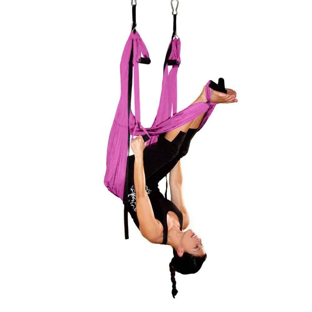 Dependable Aerial Yoga Hammock Flying Swing Trapeze Yoga Inversion Exercises Device Home Hanging Belt Training Yoga For Sporting Evident Effect Yoga