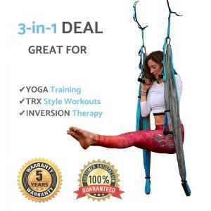 Aerial Trapeze Yoga Swing - Gym Strength Antigravity Yoga Hammock review