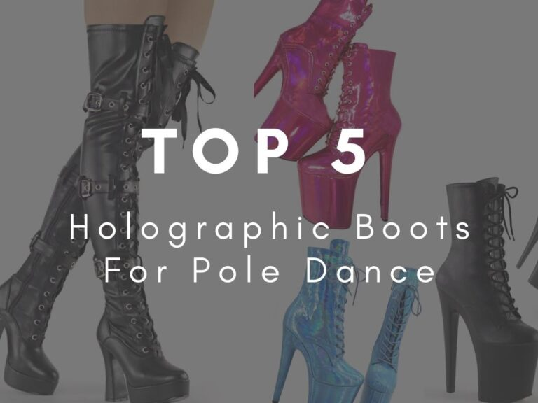 Holographic Boots For Pole Dance